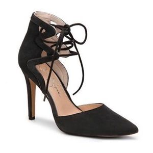 Jessica Simpson Ankle Strap Strappy Pointy Heels
